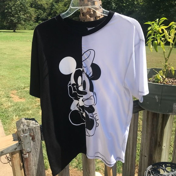 d71f68295cc643 Disney Tops | Blackwhite Mickeyminnie Shirt | Poshmark